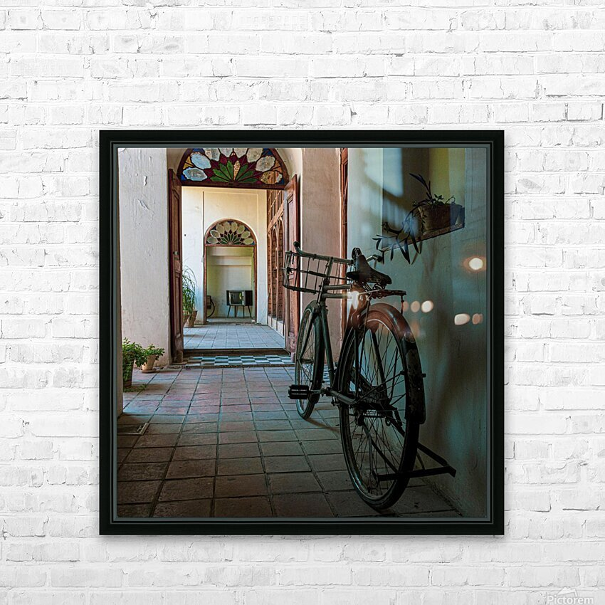 bicycle HD Sublimation Metal print with Decorating Float Frame (BOX)