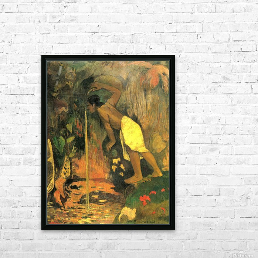 Mysterious Source by Gauguin HD Sublimation Metal print with Decorating Float Frame (BOX)