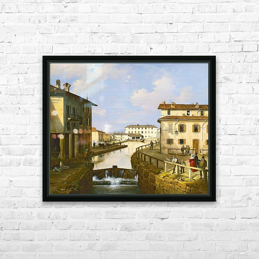 Il Naviglio dal ponte di San Marco HD Sublimation Metal print with Decorating Float Frame (BOX)