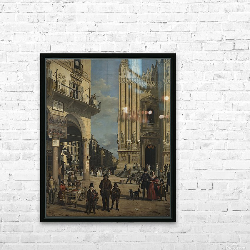 View of the Piazza del Duomo HD Sublimation Metal print with Decorating Float Frame (BOX)