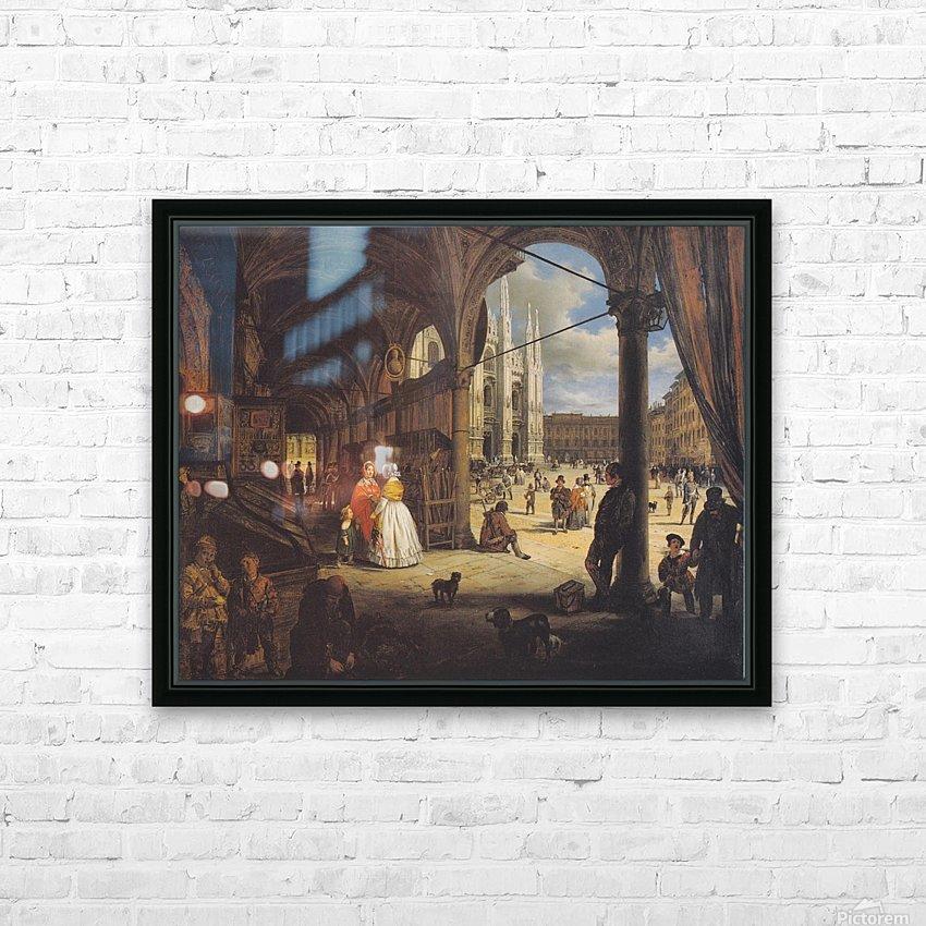 Veduta della piazza del Duomo dal Coperto dei Figini HD Sublimation Metal print with Decorating Float Frame (BOX)