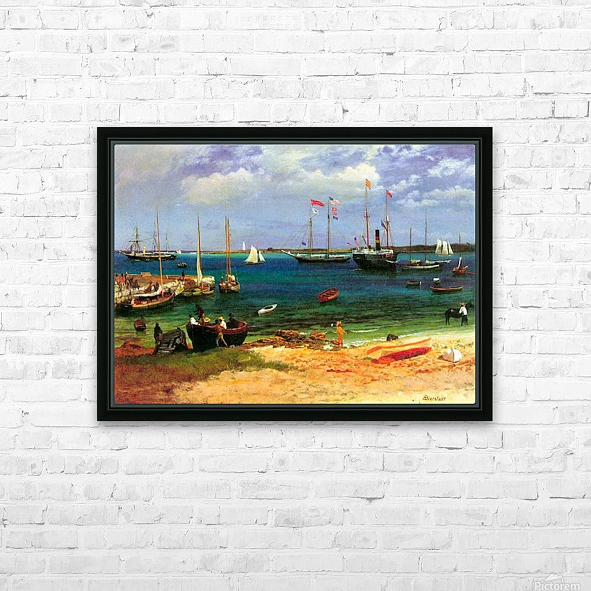 Nassau port by Bierstadt HD Sublimation Metal print with Decorating Float Frame (BOX)