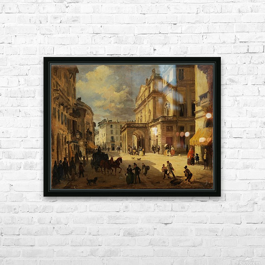 View of the Teatro alla Scala from Giardino lane HD Sublimation Metal print with Decorating Float Frame (BOX)