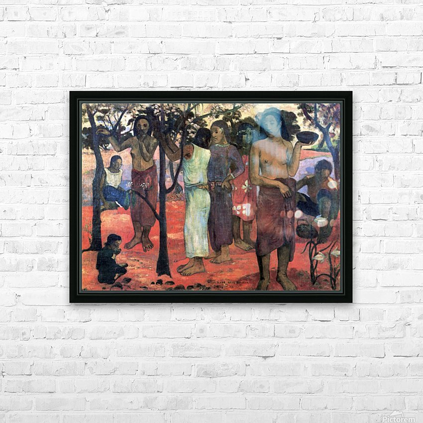 Nava Nava Mehana by Gauguin HD Sublimation Metal print with Decorating Float Frame (BOX)