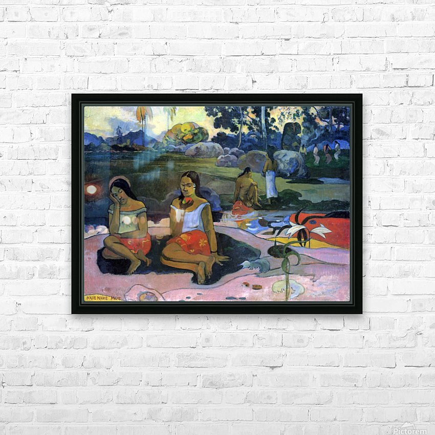 Nave Nave Moe by Gauguin HD Sublimation Metal print with Decorating Float Frame (BOX)