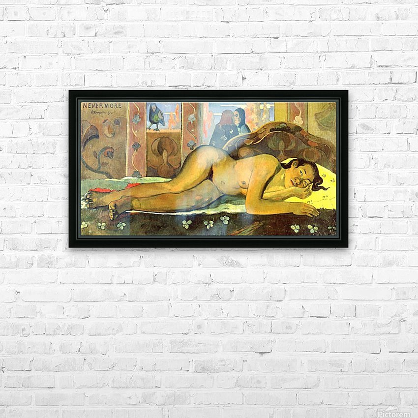Nevermore by Gauguin HD Sublimation Metal print with Decorating Float Frame (BOX)