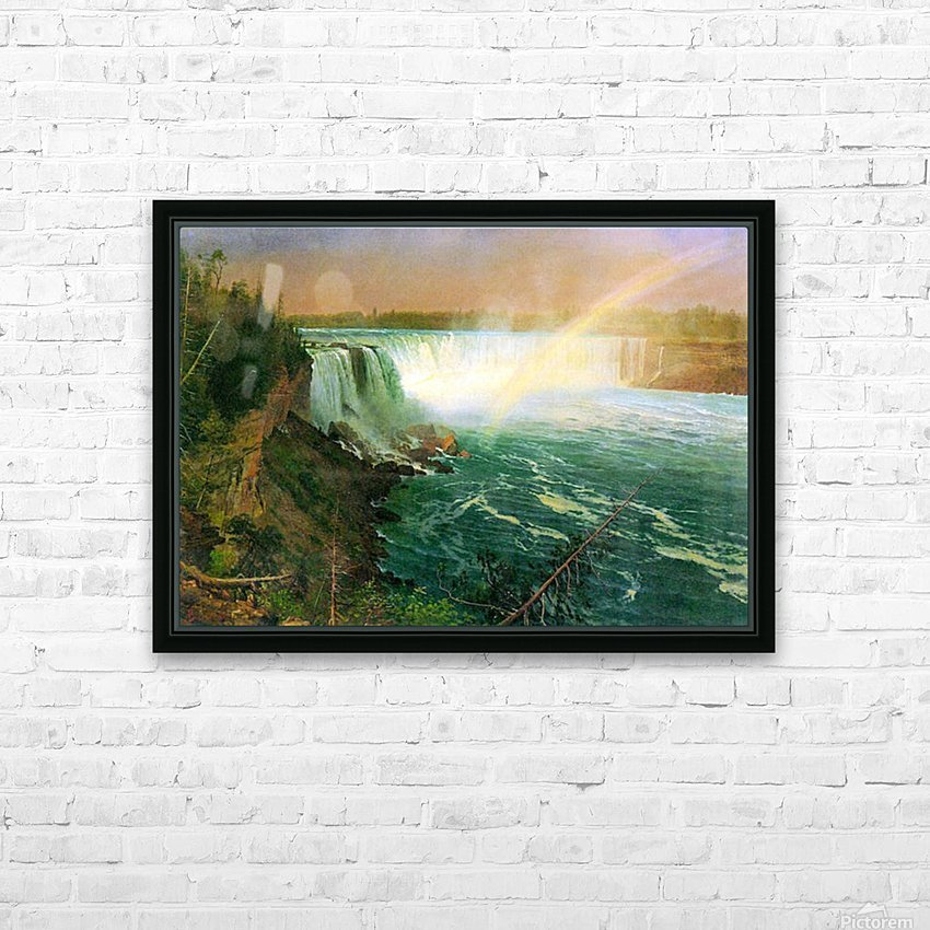 Niagra Falls by Bierstadt HD Sublimation Metal print with Decorating Float Frame (BOX)
