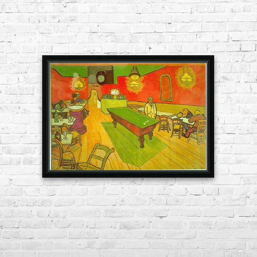 Night Cafe by Van Gogh HD Sublimation Metal print with Decorating Float Frame (BOX)