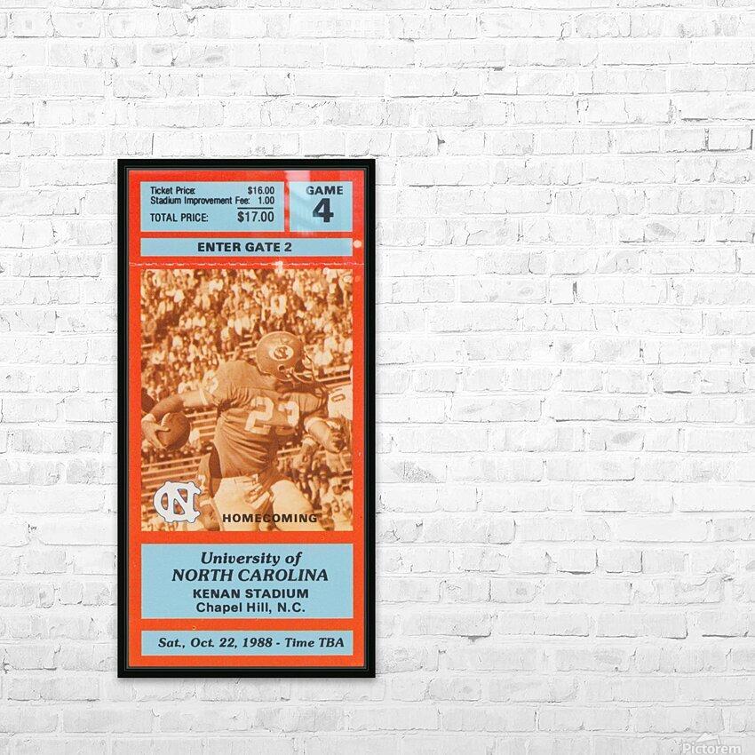 1988NorthCarolinaFootballTicketStubPosterPrint HD Sublimation Metal print with Decorating Float Frame (BOX)