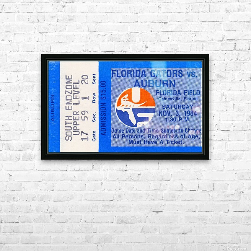 1984 Florida vs. Auburn HD Sublimation Metal print with Decorating Float Frame (BOX)