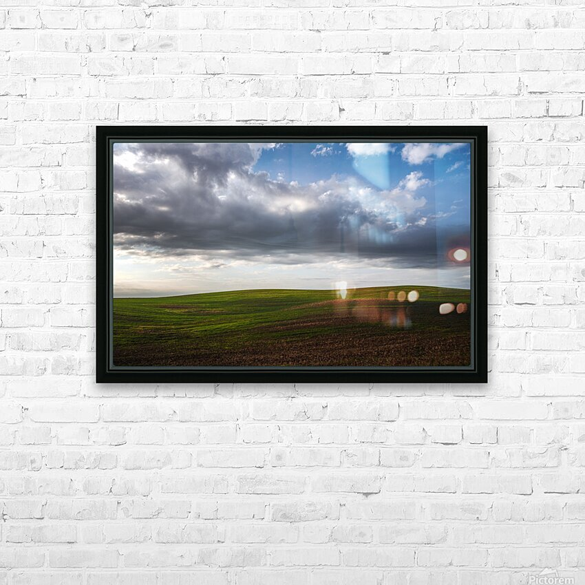 Fields and clouds HD Sublimation Metal print with Decorating Float Frame (BOX)