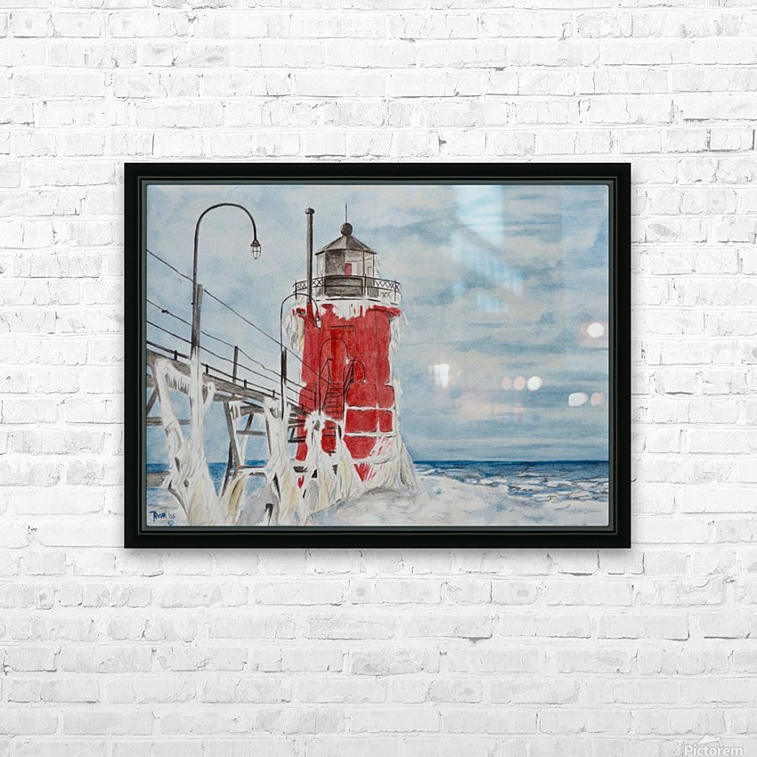 South Haven Lighthouse Michigan  HD Sublimation Metal print with Decorating Float Frame (BOX)