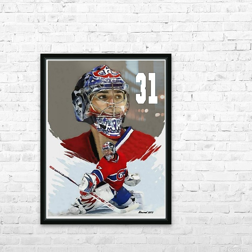 Carey Price portrait HD Sublimation Metal print with Decorating Float Frame (BOX)