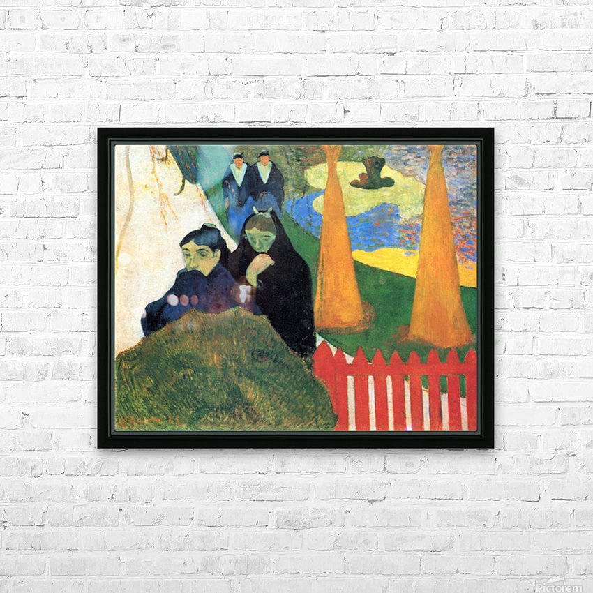 Old Maids in a Winter Garden - Arles by Gauguin HD Sublimation Metal print with Decorating Float Frame (BOX)