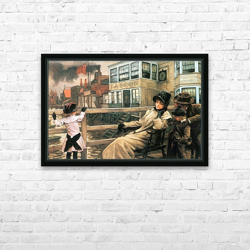 On the ferry waiting 2 by Tissot HD Sublimation Metal print with Decorating Float Frame (BOX)