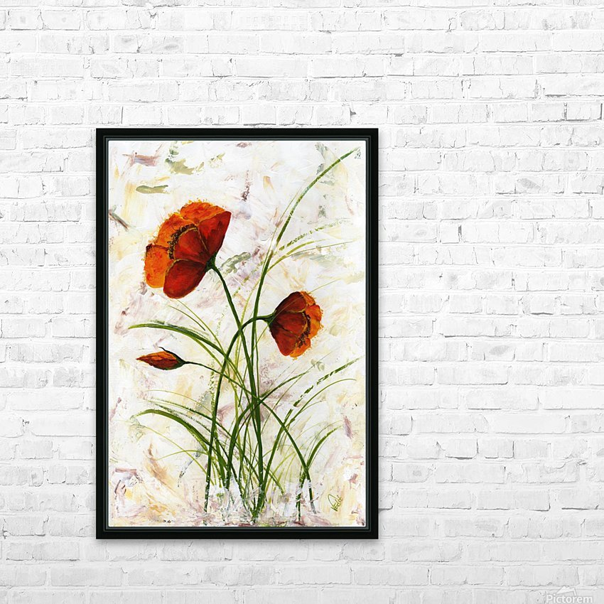 Red poppies 004 Edit Voros  HD Sublimation Metal print with Decorating Float Frame (BOX)