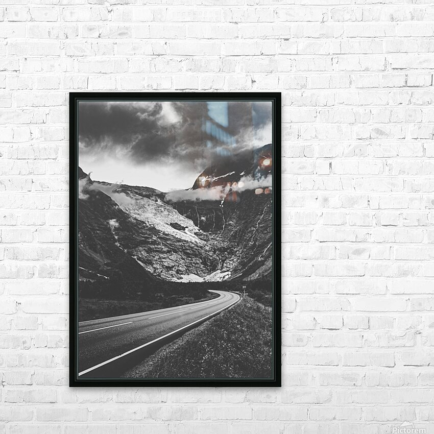 Into the wall of ice HD Sublimation Metal print with Decorating Float Frame (BOX)