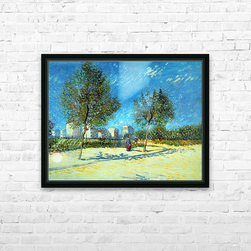 Outskirts by Van Gogh HD Sublimation Metal print with Decorating Float Frame (BOX)