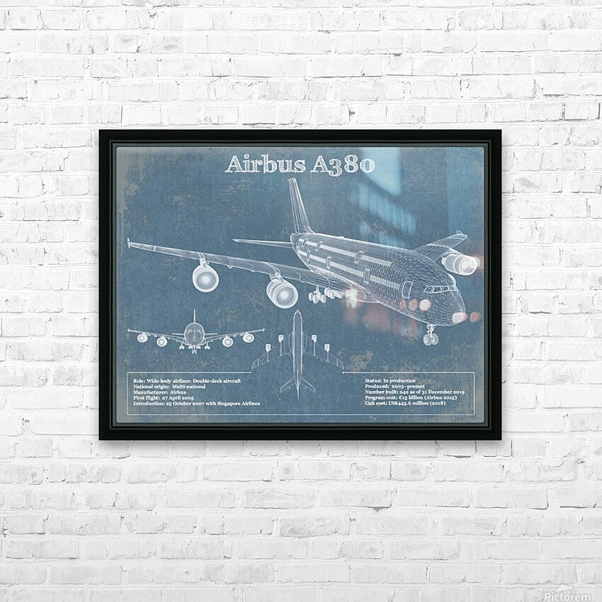 a380xd HD Sublimation Metal print with Decorating Float Frame (BOX)