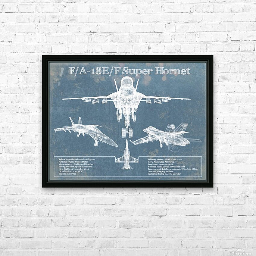 fa18 HD Sublimation Metal print with Decorating Float Frame (BOX)