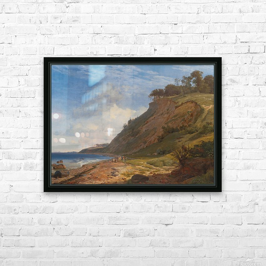 A Danish Coast HD Sublimation Metal print with Decorating Float Frame (BOX)