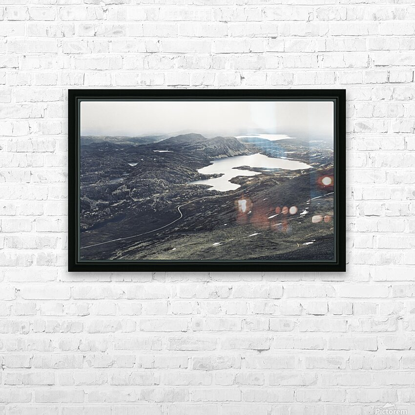 Lake stain HD Sublimation Metal print with Decorating Float Frame (BOX)