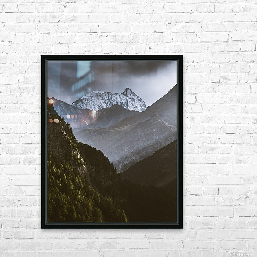 Between the trees HD Sublimation Metal print with Decorating Float Frame (BOX)