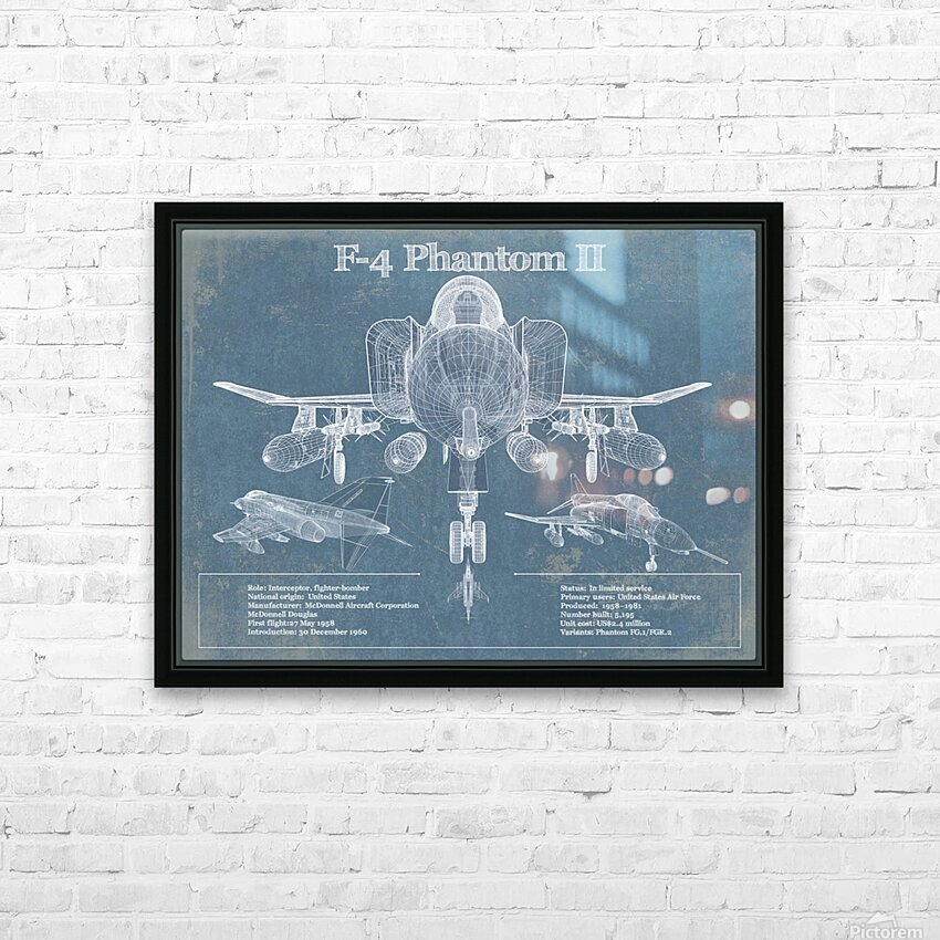 phantom HD Sublimation Metal print with Decorating Float Frame (BOX)