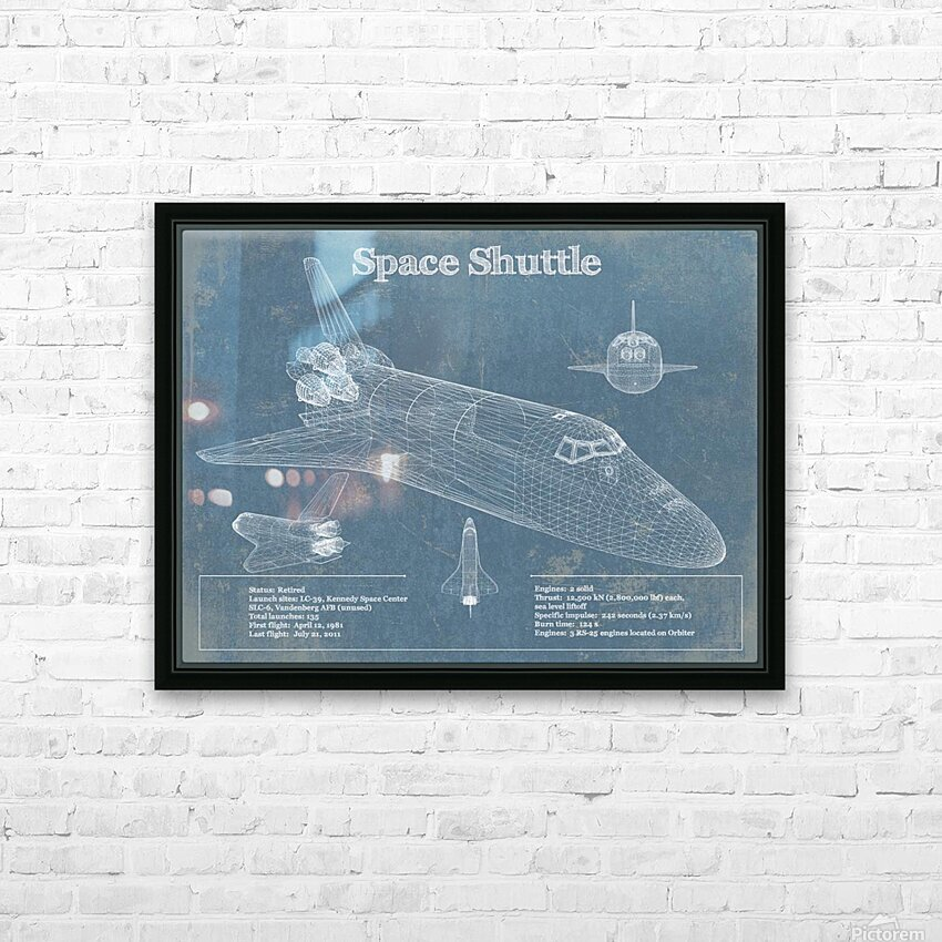 spaceshuttle HD Sublimation Metal print with Decorating Float Frame (BOX)