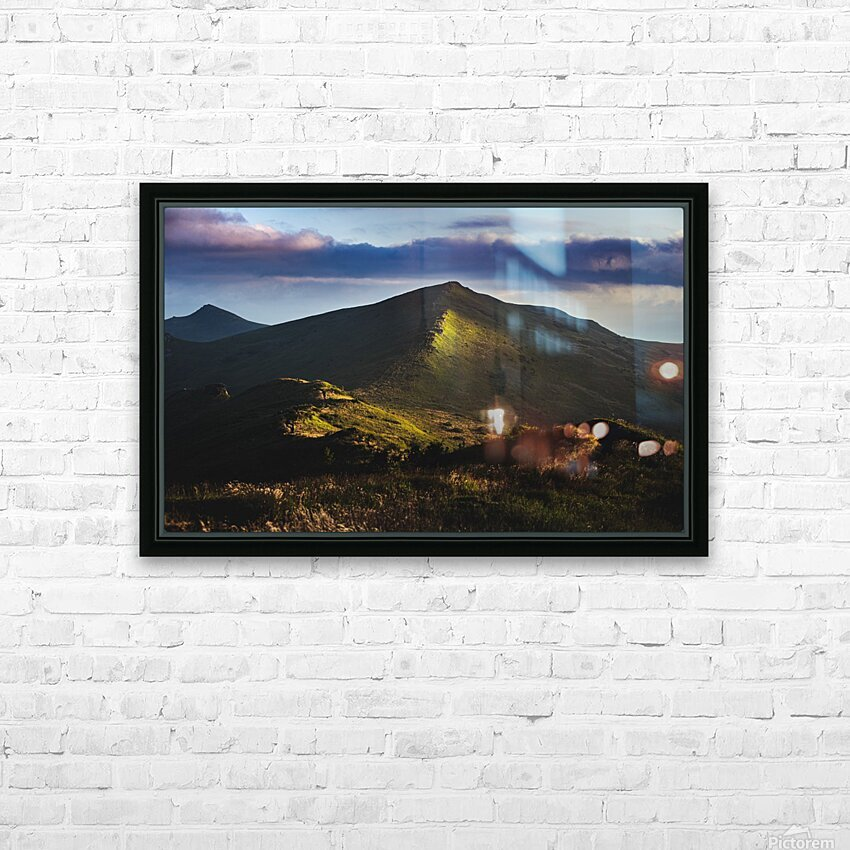Morning trail HD Sublimation Metal print with Decorating Float Frame (BOX)