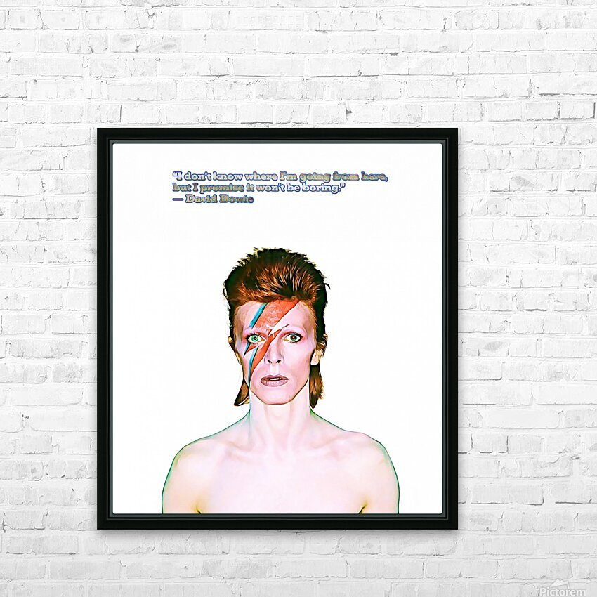 David Bowie Ziggy Stardust HD Sublimation Metal print with Decorating Float Frame (BOX)