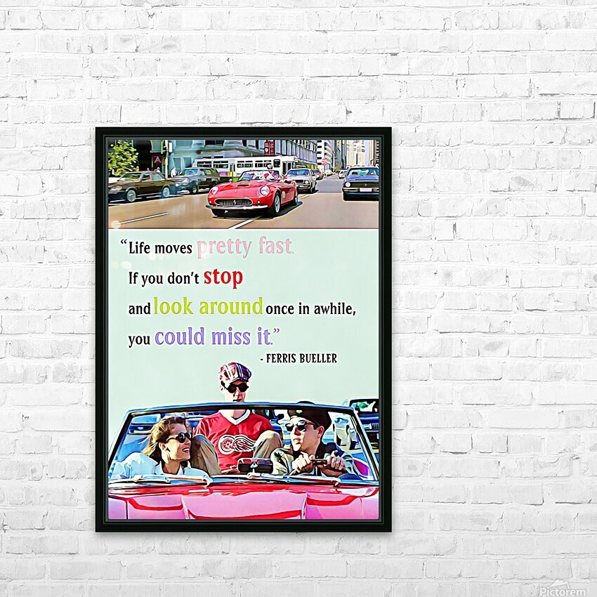 Ferris Bueller Day Off HD Sublimation Metal print with Decorating Float Frame (BOX)