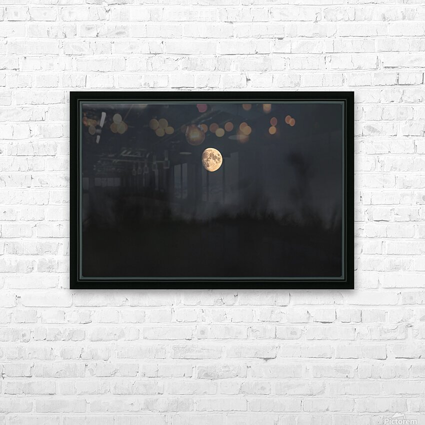 The moon HD Sublimation Metal print with Decorating Float Frame (BOX)
