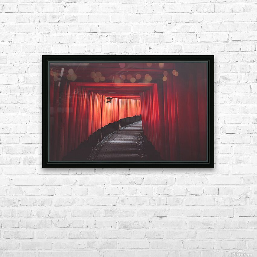 Fushimi red HD Sublimation Metal print with Decorating Float Frame (BOX)