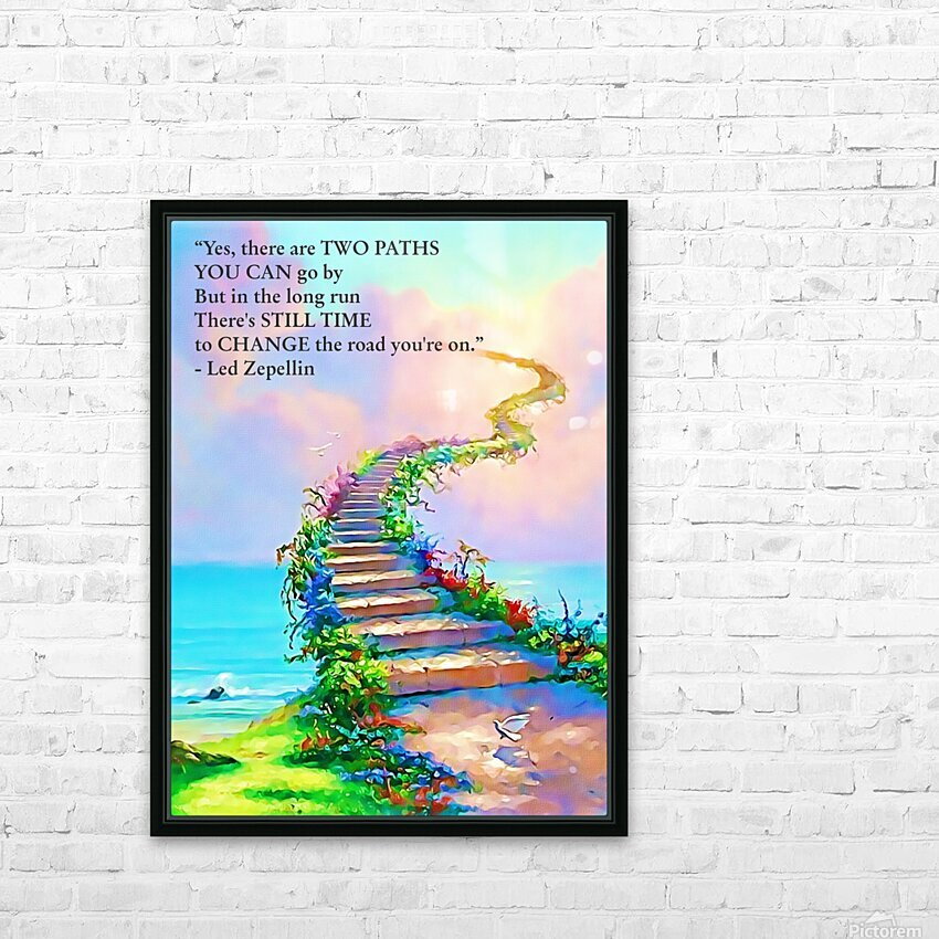 Stairway To Heaven HD Sublimation Metal print with Decorating Float Frame (BOX)