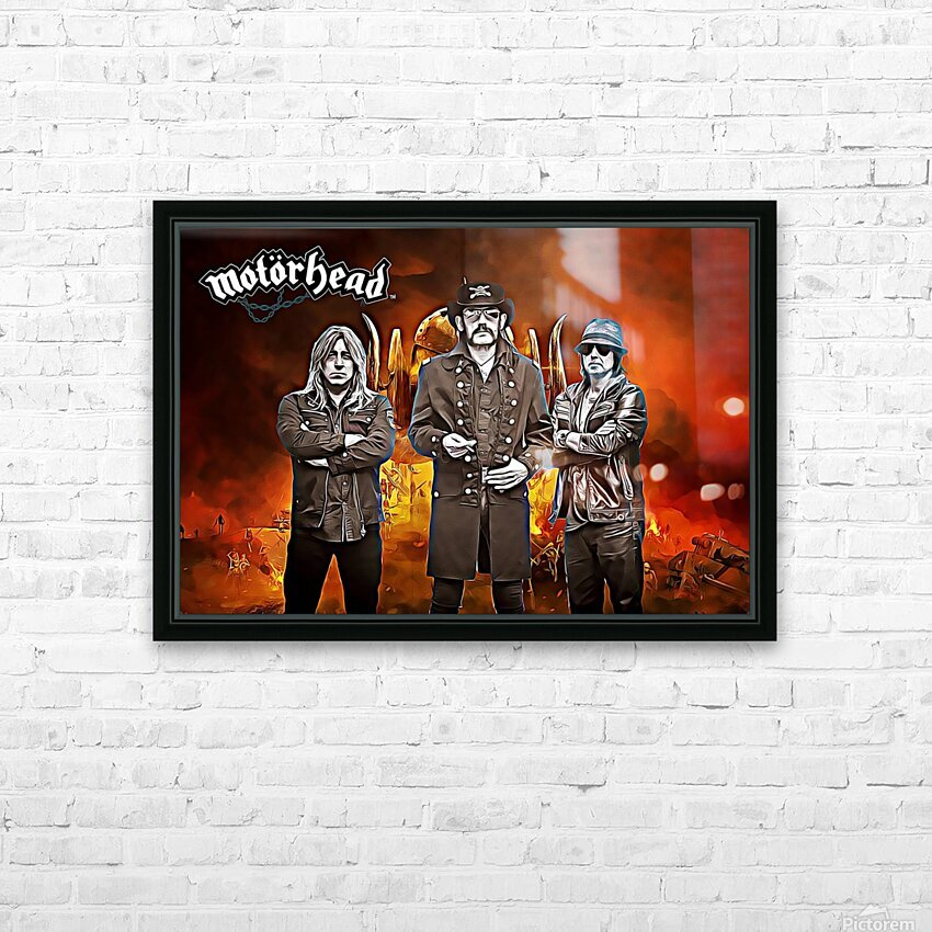 Motorhead HD Sublimation Metal print with Decorating Float Frame (BOX)