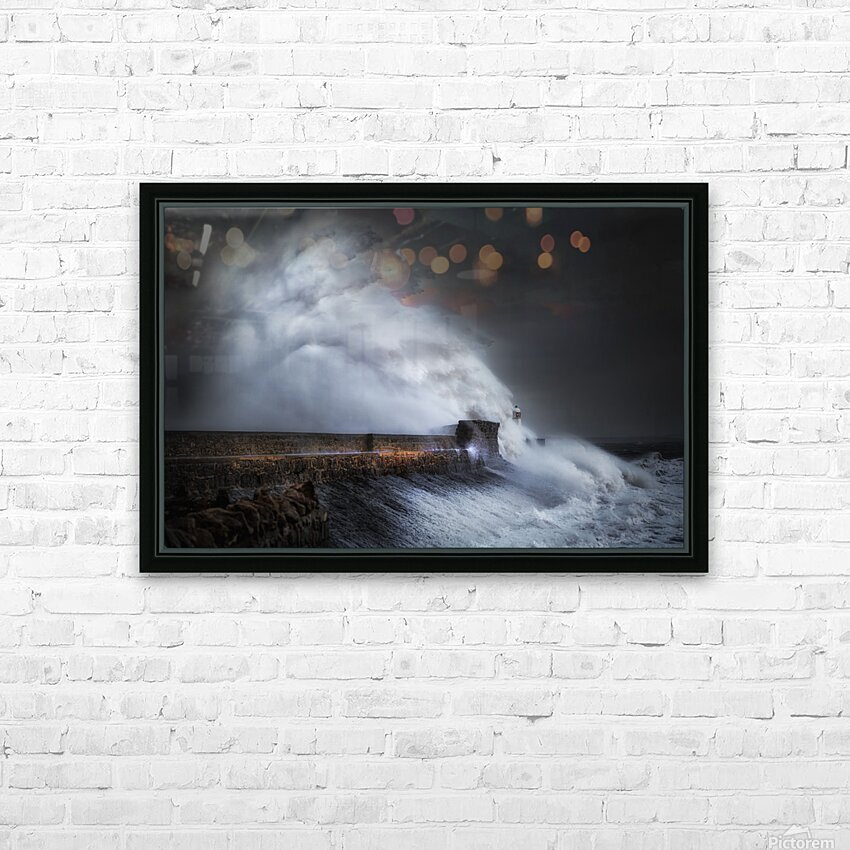 Hurricane Ophelia at Porthcawl HD Sublimation Metal print with Decorating Float Frame (BOX)