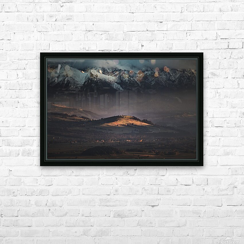 Tatry HD Sublimation Metal print with Decorating Float Frame (BOX)