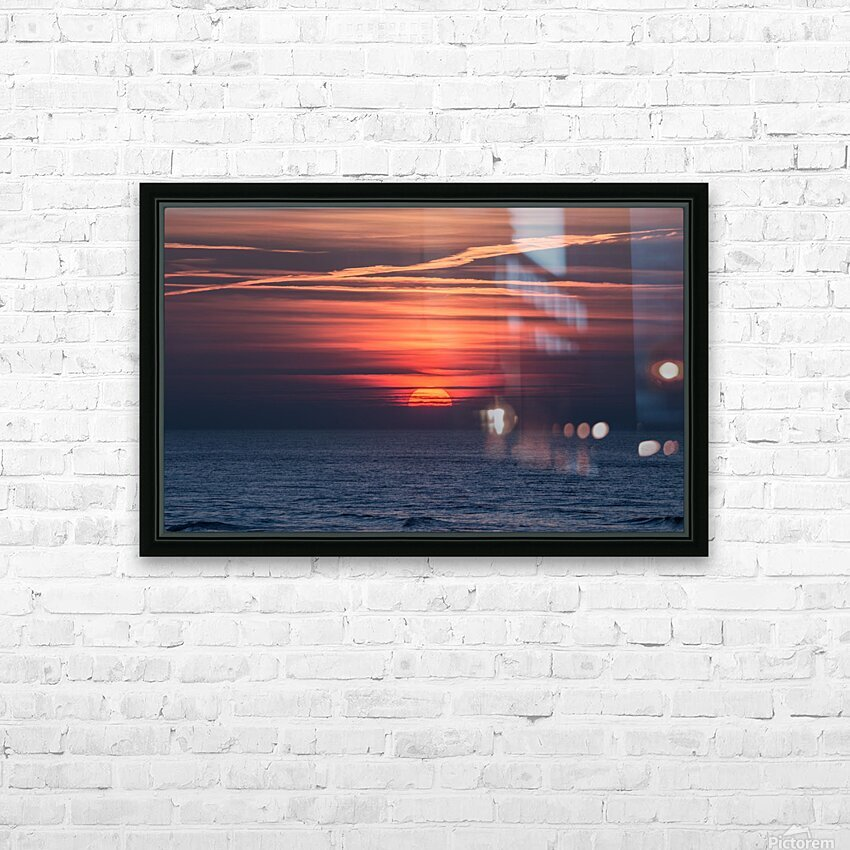 Sea lamp HD Sublimation Metal print with Decorating Float Frame (BOX)