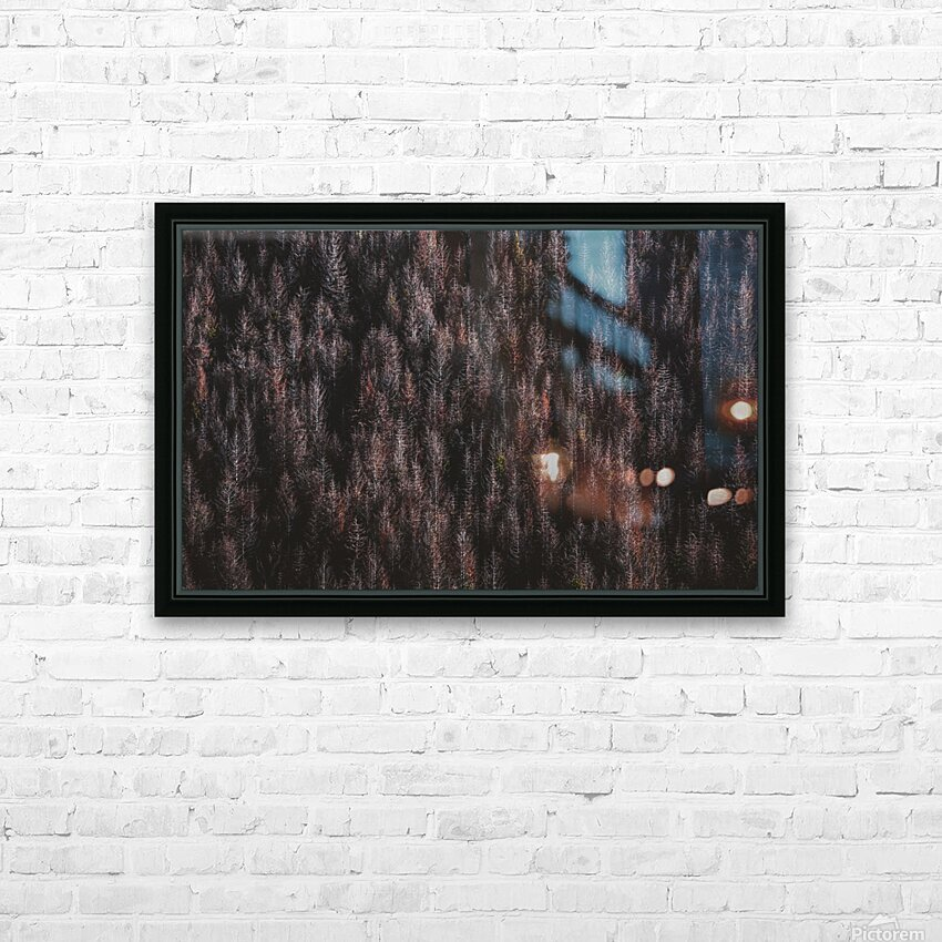 Red forest HD Sublimation Metal print with Decorating Float Frame (BOX)