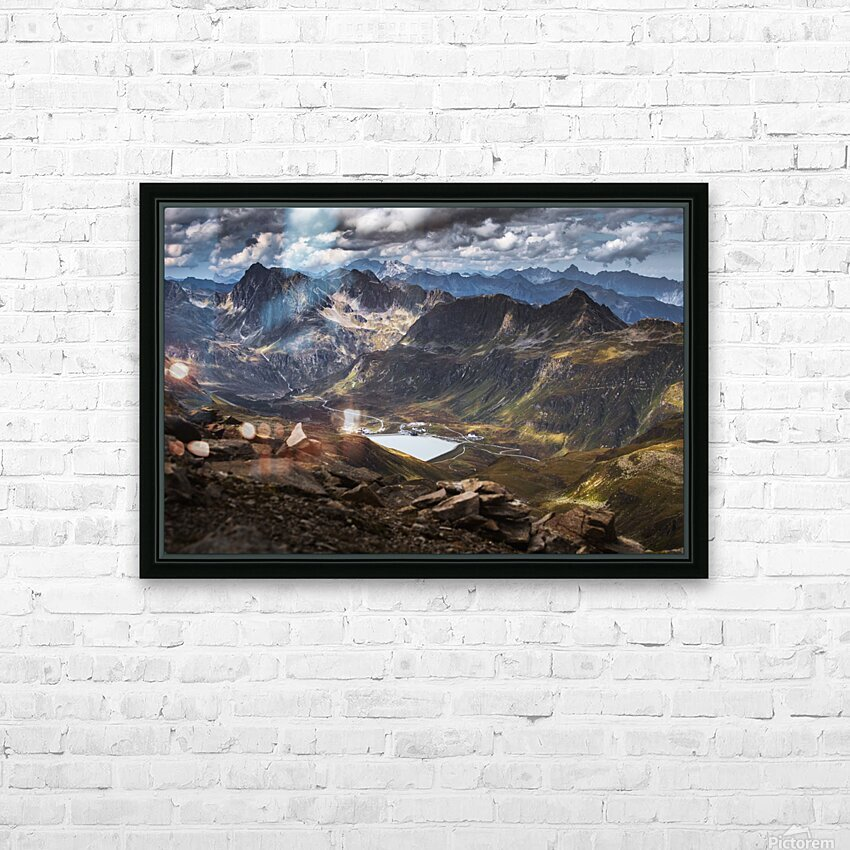 Surrounded by mountains HD Sublimation Metal print with Decorating Float Frame (BOX)