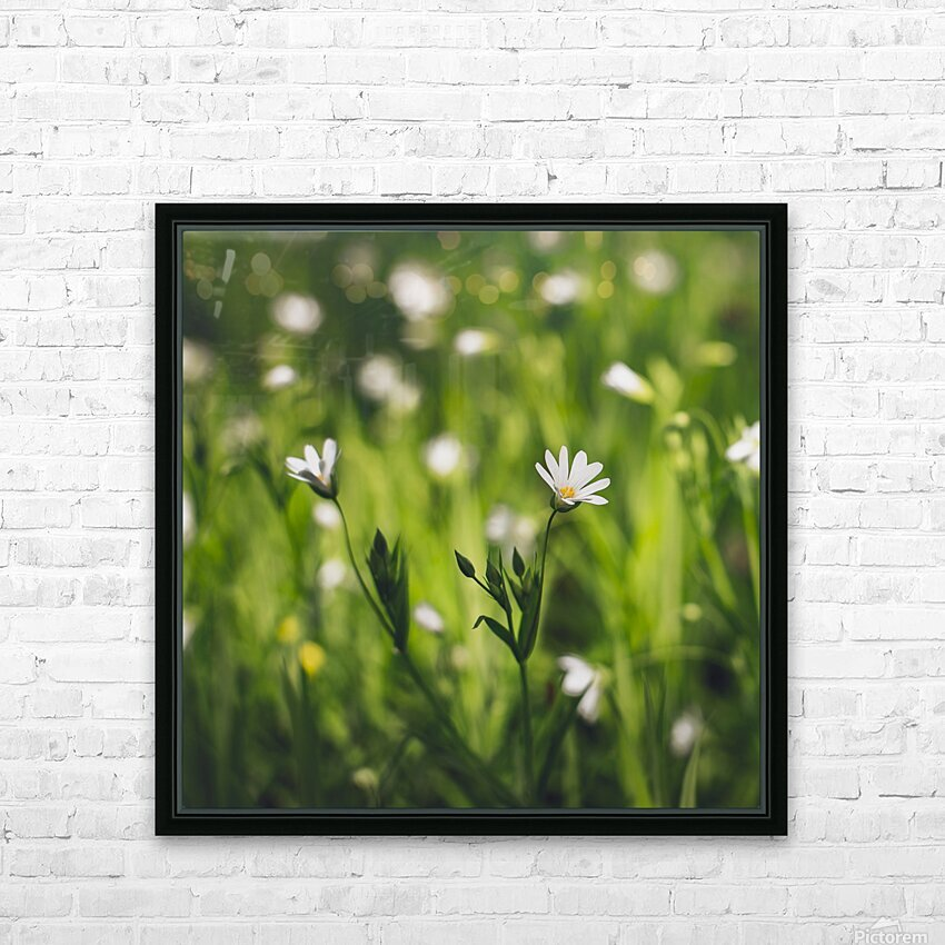 White on green HD Sublimation Metal print with Decorating Float Frame (BOX)