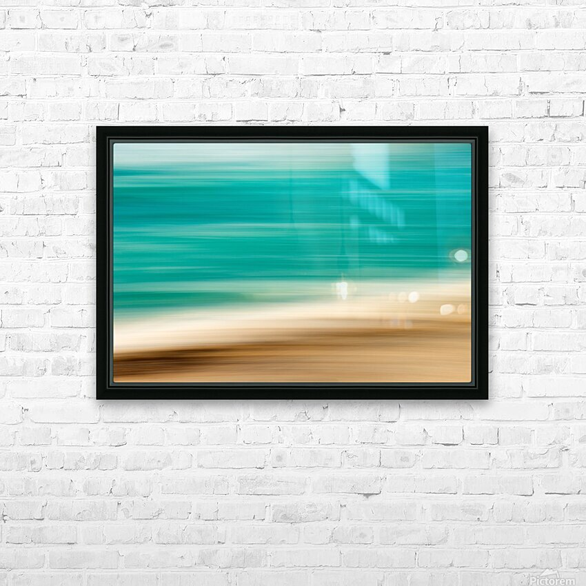 Caribbean HD Sublimation Metal print with Decorating Float Frame (BOX)