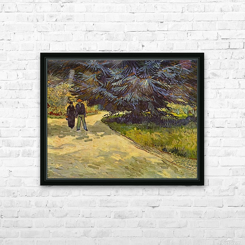Park Arles by Van Gogh HD Sublimation Metal print with Decorating Float Frame (BOX)