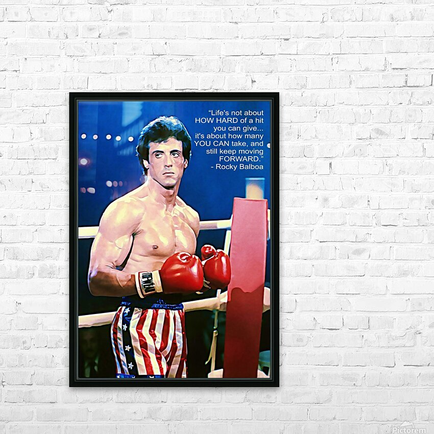 Rocky Sylvester Stallone HD Sublimation Metal print with Decorating Float Frame (BOX)