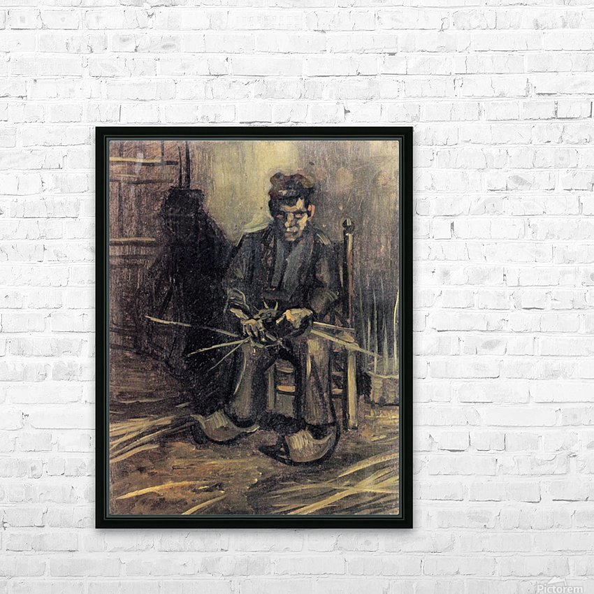 Peasant Making a Basket by Van Gogh HD Sublimation Metal print with Decorating Float Frame (BOX)