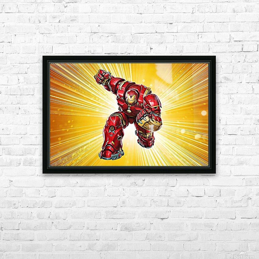 Ironman Hulkbuster HD Sublimation Metal print with Decorating Float Frame (BOX)