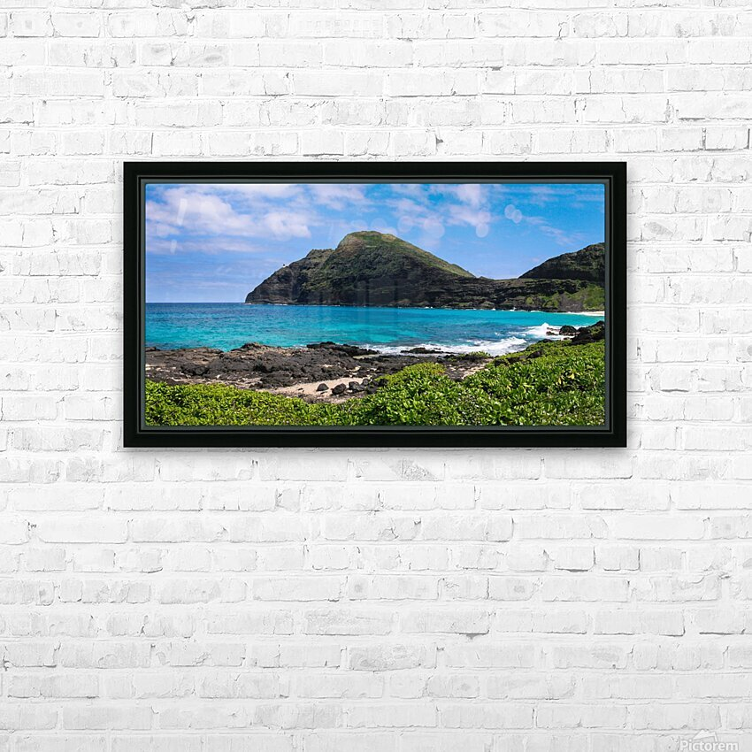 Hawaii Mountain Cliff on Coast HD Sublimation Metal print with Decorating Float Frame (BOX)