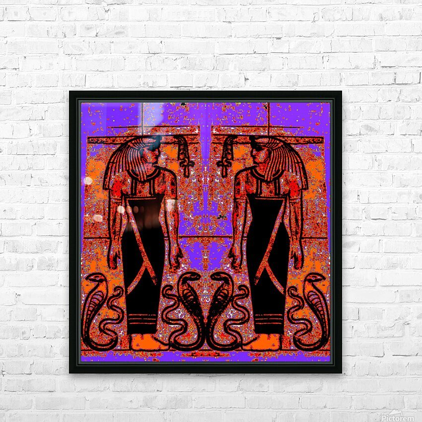 Egyptian Priests And Snakes In Garden 1 HD Sublimation Metal print with Decorating Float Frame (BOX)