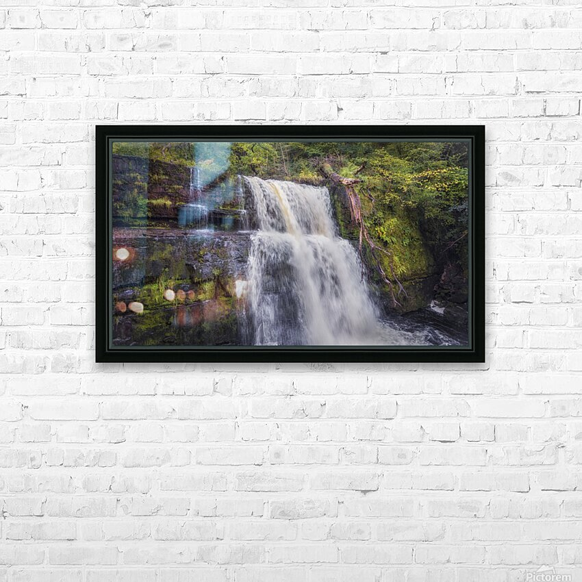 The waterfall Sgwd Clun Gwyn  HD Sublimation Metal print with Decorating Float Frame (BOX)